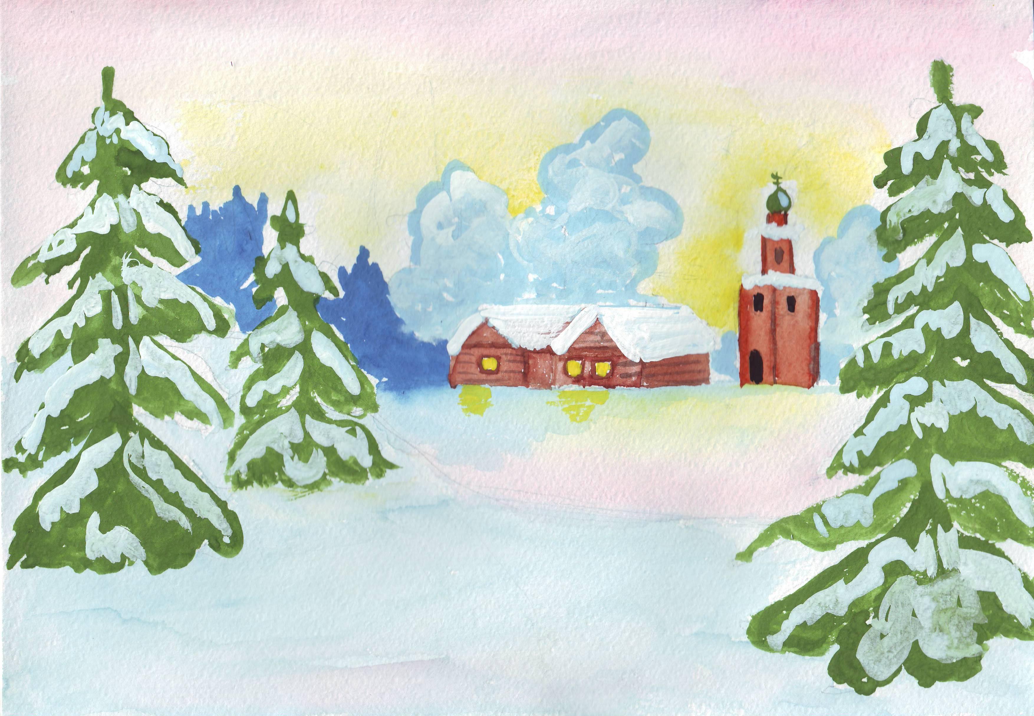 Отправить открытку, зимние сказки картинки легкие